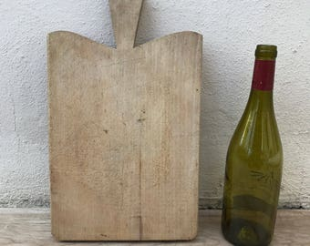 ANTIQUE VINTAGE FRENCH bread or chopping cutting board wood 10021810