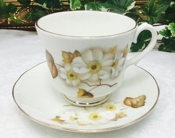 Bridgedale fine bone china teacup and saucer