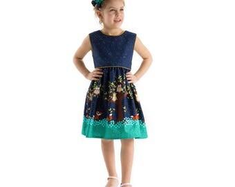 Girl Dress, Summer Flower Dress, Colourful girl dress, Beach dress, Cotton dress, Ruffle dress