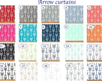 SALE Baby Room Curtain   Kitchen Curtain   Kitchen Decor Window Valance    Orange Arrow