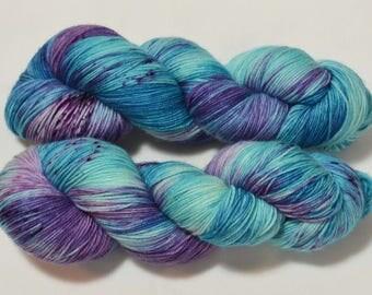 Moody Blue on Sock 4-ply Superwash Merino