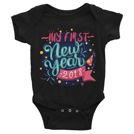 My first New Year, First New Year Onesie, 2018 Onesie, Newborn Onesie, Baby Onesie, Baby Shower Gift, Baby Onesie Bodysuit, Baby's First
