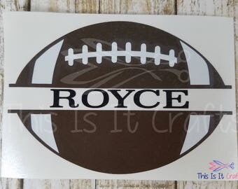 Football Decal | Personalized Football Decal | Water Bottle Decal | Sports Decal | Personalized Sports Decal | Vinyl Decal | Car Decal