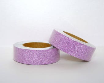 Glitter Masking Tape with pink glitter washi tape - 10 m