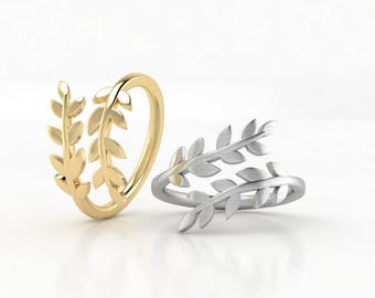 Leaf ring - Dainty ring - Real leaf jewelry