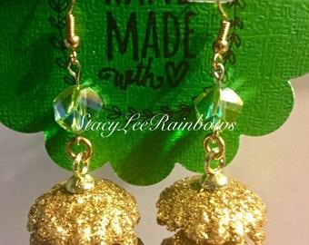 Pinecone Dangle Earrings Christmas Earrings