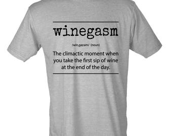 Winegasm definition Funny T-Shirt
