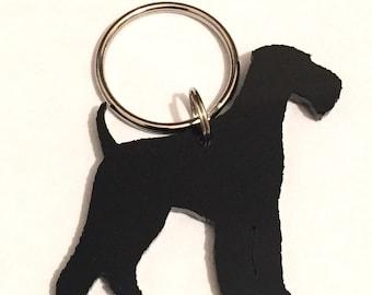 Handmade airedale dog keyring/lanyard/keychain/gift