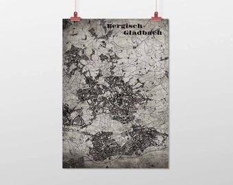 Bergisch Gladbach - A4 / A3 - print - OldSchool