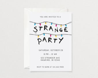Stranger Things Party Invitation | Customized Printable Invitation