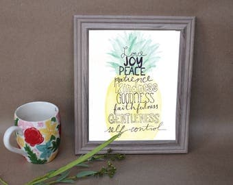 The Fruits of the Spirit Pineapple Print