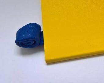 Midnight blue sparkling bookmark