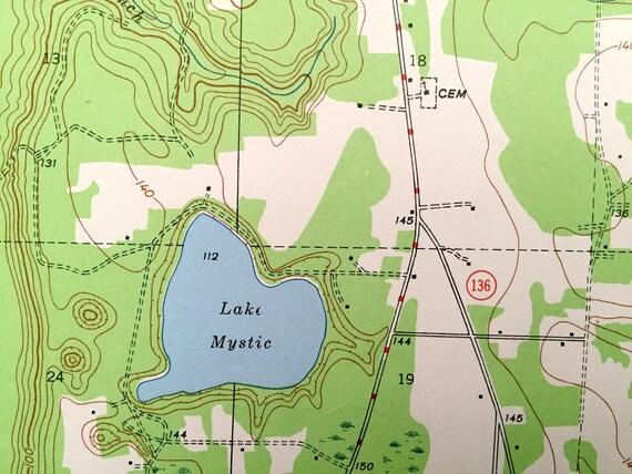 Antique Bristol Florida 1945 Us Geological Survey Topographic Map Liberty County Calhoun County Apalachicola River Lake Mystic