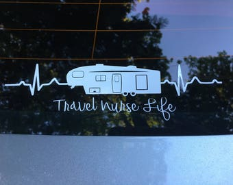 5th Wheel Camper Vinyl Car Decal