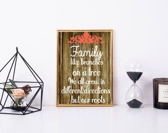 Family Roots printable quote