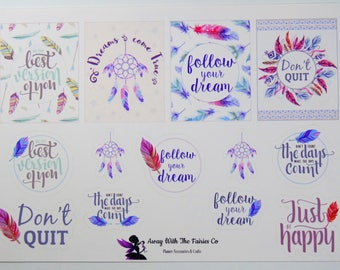 Positive Quotes Planner Stickers