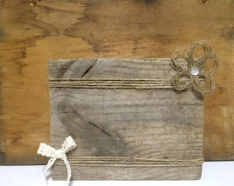 Rustic Farmhouse Decor Wooden Picture Frame