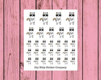 Badass Tattoo Time Mauly - Hand Drawn IttyBitty Kitty  Collection - Planner Stickers