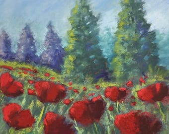 Print of Red Poppies