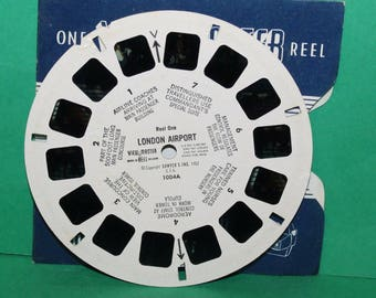 Vintage Sawyers Viewmaster Reel London Airport 1004A Reel One