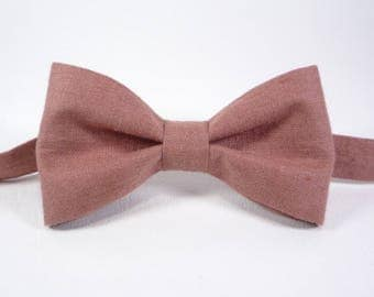 Amaranth Pink bow tie Pink bow tie red bowties linen bow tie men red bow tie adult bow tie toddler bow tie newborn bowtie pre-tied bow tie