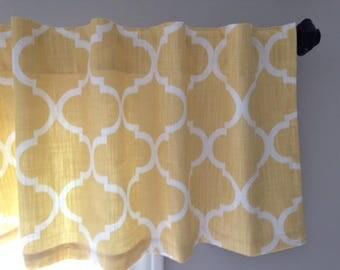 "Sunny Yellow/Gold Valance - 16"" x 50"""