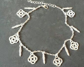 Celtic knots Anklet and feathers-Pagan jewelry-paganism-Pagan-
