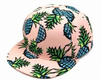 men Baseball cap Vintage Pineapple baseball hat Pineapple cap  Beach hat Spring break hat Trucker Cap Pineapple print Hawaii hat Aloha hat