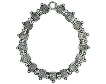 Antique Victorian Silver Collar - Necklace