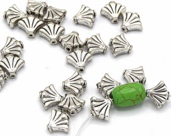 Metal beads shell silver 8.5 mm PM22/Metal beads seashell Color silver 8.5 mm in packs of 10/20/40 units