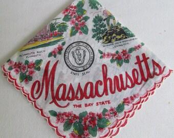 Massachusetts State Hankie 1950's