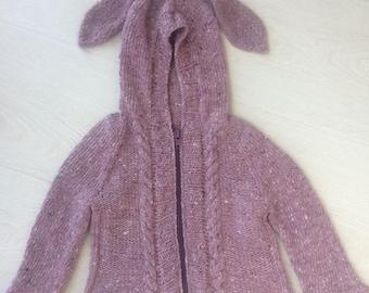 Bunny hoodie .