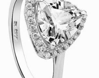 Beautiful ring in 925 sterling silver and Crystal