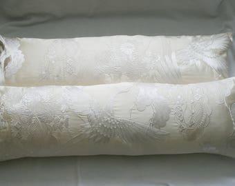 Long Silk Bolster Cushion or Pillow