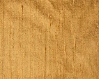 10% Off On Gold Dupion Pure Raw Silk Fabric