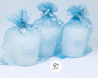 Personalised baby shower Candle Favours