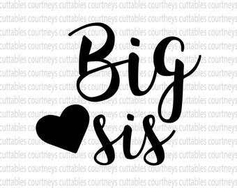 big sis svg/ big sis png/ sister svg cut file
