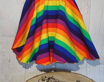 Full rainbow circle skirt