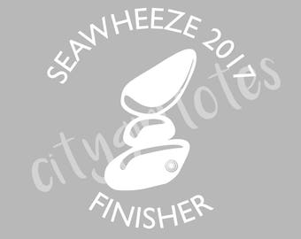 Seawheeze Finisher vinyl decal