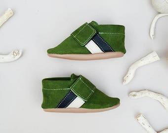 GREEN Sneaker Moccasins