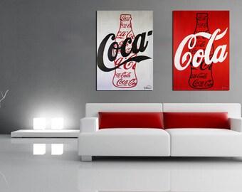 Coca cola wall art etsy for Coca cola wall mural