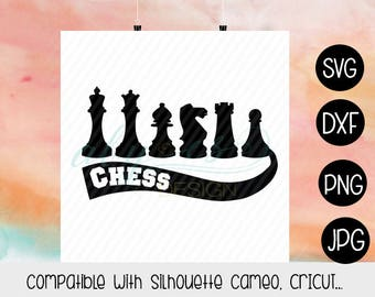 Chess SVG, Ajedrez SVG, Png, Jpg, Dxf, SIlhouette, Cameo, Cricut, Cut files, Sublimation, Transfer Paper