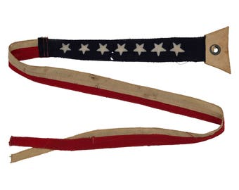 Vintage WWII Navy Ship Commissioning Pennant