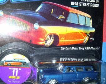 Hot Rods Street Rods 1950s Rambler Wagon Rumblur by Johnny Lightning new on card