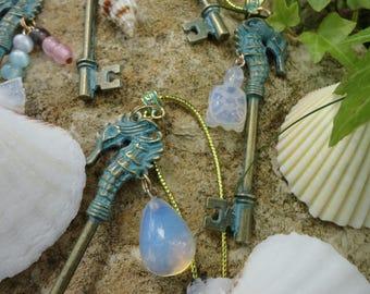 """the Atlantis key"" necklace, seahorse key"