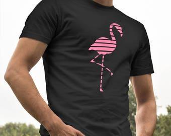 Flamingo T-shirt - Summertime Shirt for Men - Tropical Shirt - Flamingo Beach Shirt - Bird T-shirt