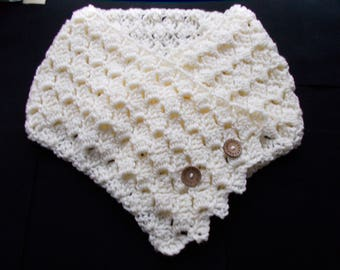 Crochet cowl, chunky, soft, warm, snuggly, neck scarf