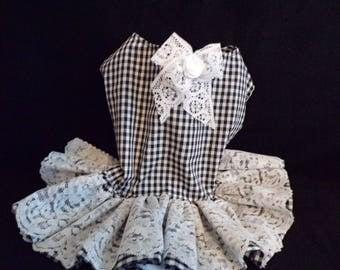 gingham checked dress size medium