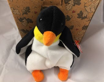 TY Beanie Baby Waddle the Penguin Original MWT December 19, 1995  Gift Quality