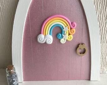 Fairy nursery etsy for Rainbow fairy door